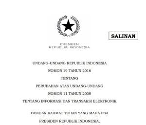 Gambar UNDANG-UNDANG REPUBLIK INDONESIA NOMOR 19 TAHUN 2016
